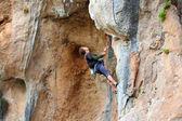 Rock climber. — Stock Photo