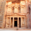 Ancient City of Petra Built in Jordan. — Stock Photo