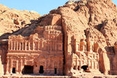 Starověké město petra v jordánsku — Stock fotografie