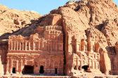 在约旦佩特拉古代城市建 — 图库照片