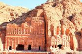 Antica città di petra, costruito in giordania — Foto Stock