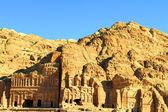 Antiga cidade de petra, construído na jordânia — Foto Stock