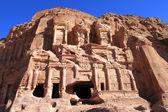Petra, ztratil skalní město jordánska. — Stock fotografie