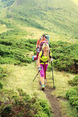 Summer hiking in the mountains — Stock Photo