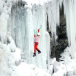 Stock Photo: Ice climbing.