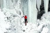Ice climbing. — Stock Photo