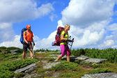 Caminata de montaña. — Foto de Stock