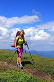 Escursione in montagna. — Foto Stock
