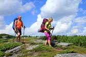 Mountain hike. — Foto Stock