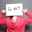 I am OK — Foto Stock