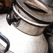Stock Photo: Old steel milk container