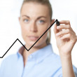 Increasing fluctuating graph — Stock Photo