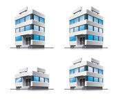 Four cartoon office buildings. — Stock Vector