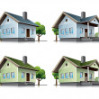 Royalty-Free Stock Imagem Vetorial: Family houses cartoon icons