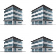 Hotel or office buildings — Stock Vector