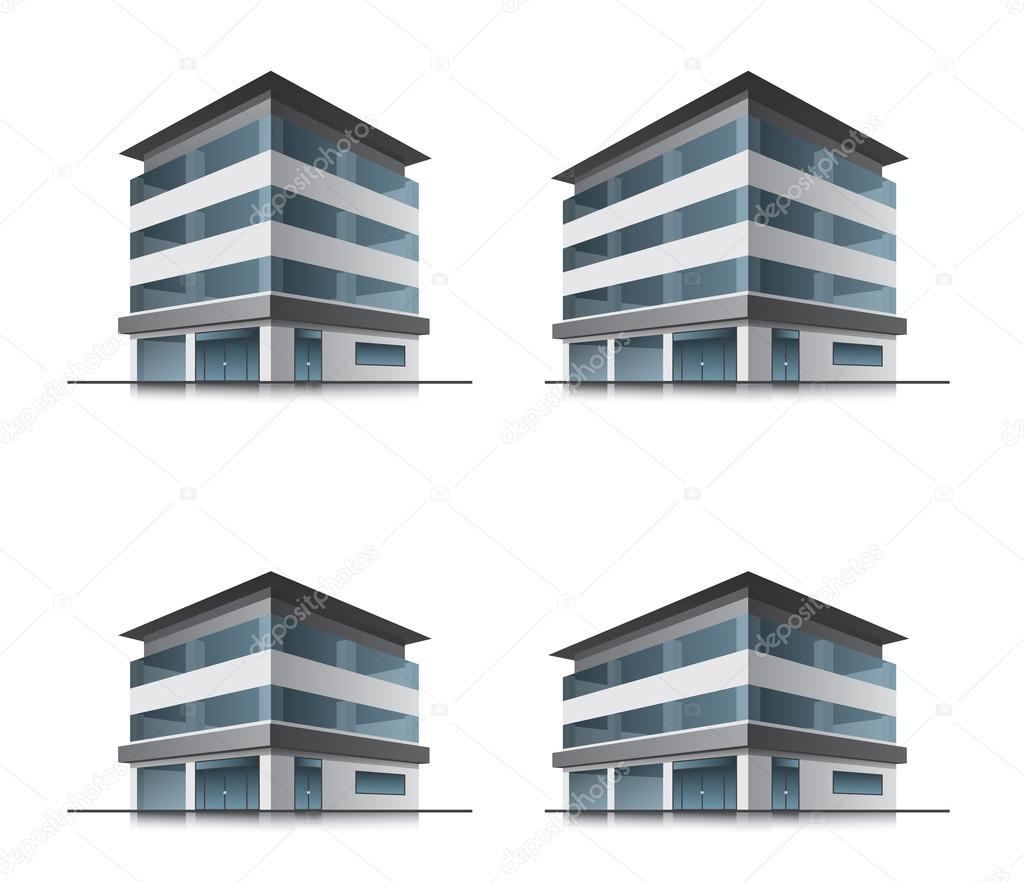 Hotel Building Icon Vector Vector Building Icons