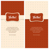 Beautiful retro greeting cards  — Stock Vector