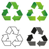 Recycle symbol — Vettoriale Stock
