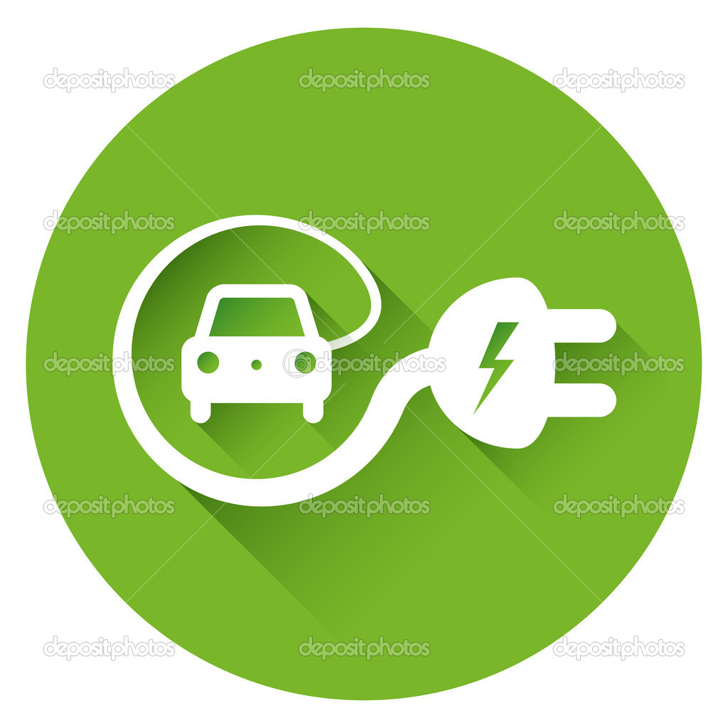 Electric Car Charging Logo