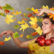 Autumn wind — Stock Photo