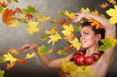 Autumn wind — Stock Photo