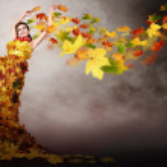 Lady autumn — Stock Photo #14510499