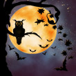Halloween illustration with owl — Stock Photo #14545485