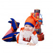 Funny gnome with presents — Stock Photo #14545779