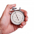 Men's hand with stopwatch - Foto Stock