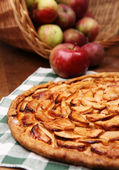 Open apple pie — Stockfoto