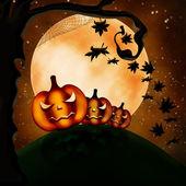 Three terrible pumpkins — Stock Photo
