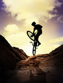 Extreme mountain bike — Stockfoto