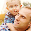 Son and father portrait — Stock Photo #14565311