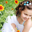 Stock Photo: Cute little girl portrait