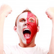 Screaming football fan — Stock Photo