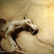 Background with mythical flying dog — Stock Photo