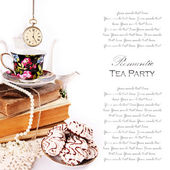 Romantische tea-party — Stockfoto