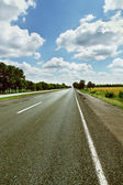 Road across fields — Stock Photo