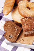 Still life with different kinds of bread — Stock Photo