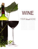 Background with wine goblet — Stock Photo