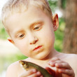The first fishing catch — Stock Photo #14617371