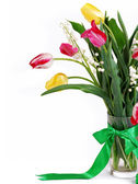 Closeup image Bouquet of spring flower — Stock Photo