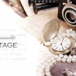 Foto Stock: Romantic vintage frame