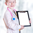 Happy smiling little doctor — Stockfoto