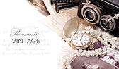 Romantic vintage frame — Stockfoto