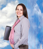 Pregnant businesswoman — Stock Photo