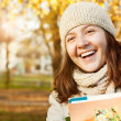 Happy smiling teenage girl portrait — Stock Photo