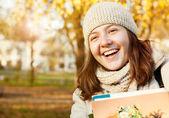 Happy smiling teenage girl portrait — Stock Photo