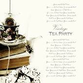 Vintage traditional english tea party background — Стоковое фото