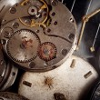 Stock Photo: Background from old mechanical clocks